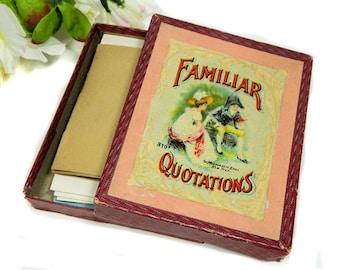 Antique Parlor Game Familiar Quotations McLoughlin Bros.