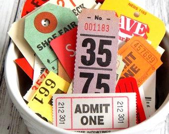 Vintage Tags And Tickets. Journal Ephemera. Vintage Journal. Embellishment Kit. Planner Accessories. Junk Journal Paper. Vintage Ephemera.
