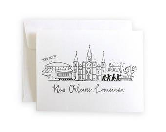 New Orleans Skyline Notecard Set