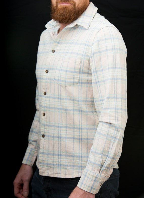 Unique Vintage 70's Men's Medium Lemon coloured Bullock's 100% textured Polyester shirt 2iHFwKXPp