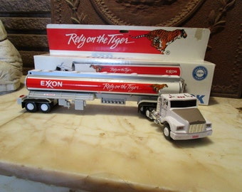 """Vintage 1993 """"EXXON"""" toy tanker truck with lights and sound and original box!"""