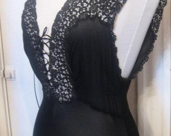 Black Silk Negligee'