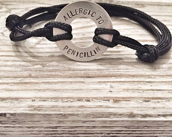Allergy alert bracelet - Child allergy bracelet