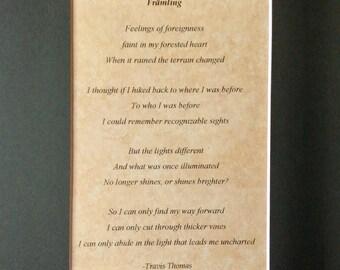 Framling (8x10 poem)