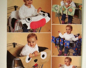 Simplicity 2920 Grocery Cart Covers Pattern - Dog, Cow, Petals plus 2 more. Uncut