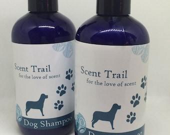Natural Dog Shampoo-olive oil-coconut oil-castor oil-lavender essential oil-mucky dog-pet care-natural dog care