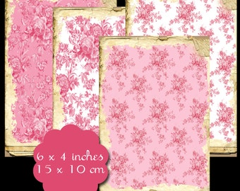 10 Shabby Pink Background Tags