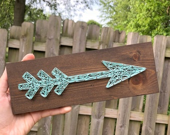 READY TO SHIP String Art Mini Arrow Sign