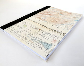 CLEARANCE Fort Augustus #5- OS Recycled Vintage Map Notebook