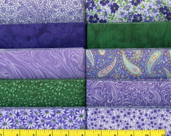 Purple Delight  Jelly Roll 40 - 2 1/2 inch strips - new combination