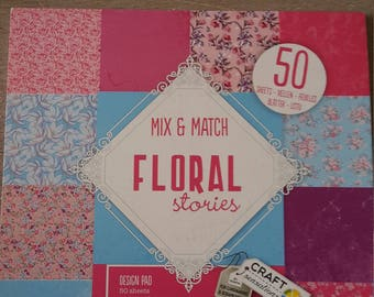 Printed paper flowers blocation floral stories