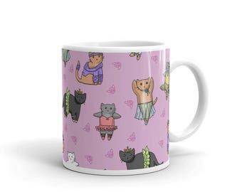 Tasse de café en céramique chatons ballerine