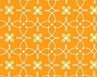 Helen's Garden by Tamara Kate - Parterre in Orange (DC6195-ORAN-D) - Michael Miller - 1 Yard