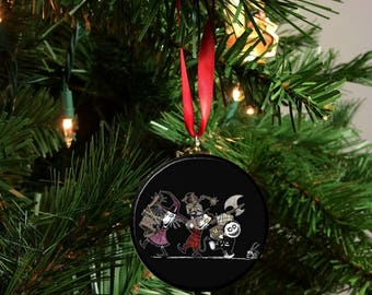"Nightmare Before Christmas Lock Shock and Barrel Image Christmas Tree 2.25"" Ornament"