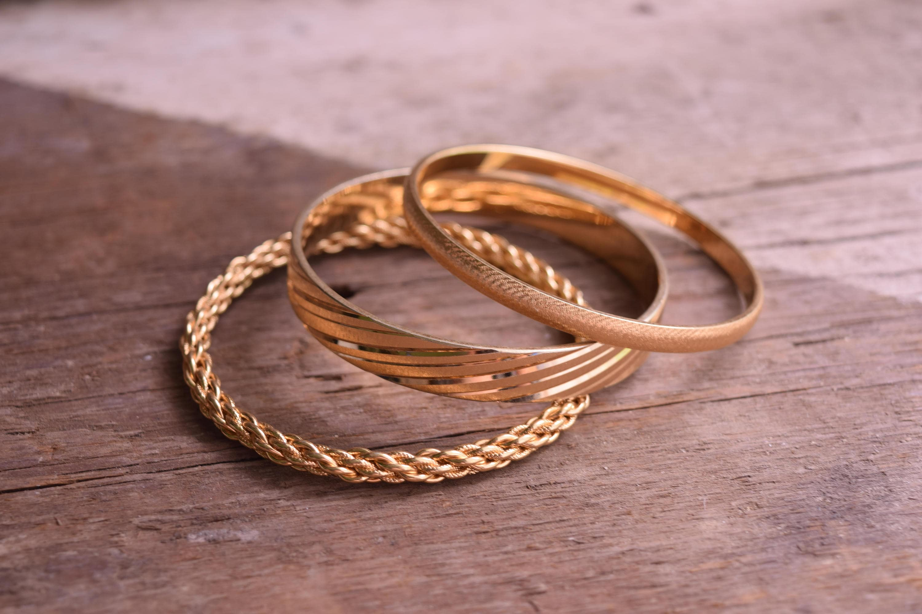 gold factory toad bark product jewellery banana bangles