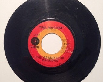 Grand Funk Railroad Time Machine and High On A Horse Vintage Vinyl 45 Record Album 1969