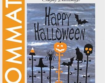 Halloween Quilt Pattern, Spooky Night 2515 Donna Babylon, Happy Halloween Quilt Pattern, Raw Edge Halloween Applique Pattern