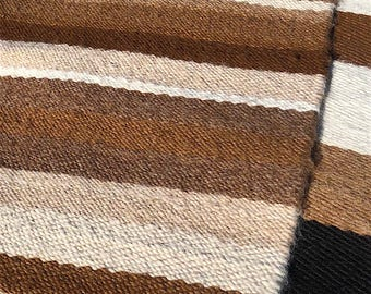 """Paco-Vicuna Wool, Handwoven Rug 35"""" x 58"""" - Browns, Grey, Cream"""