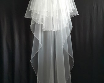 Ivory Wedding Veil, Three Layers