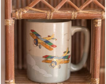 Rainbow Airplanes Coffee Mug | Gift for Pilot | Flight Attendant Coffee Mug | Vintage Coffee Mug