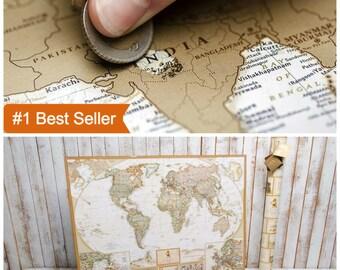 Scratch Off Map, World Map, Travel Map, Scratch off, Tracker map, Scratch World Map, Scratch Travel Map, Travel Map Poster, World Map Poster