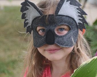 Handmade felt koala mask
