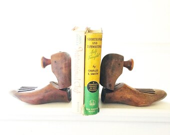 Vintage Wooden Shoe Molds/Bookends