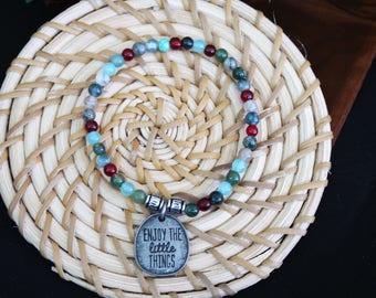 Stretchy Petite Beaded Inspirational Bracelet