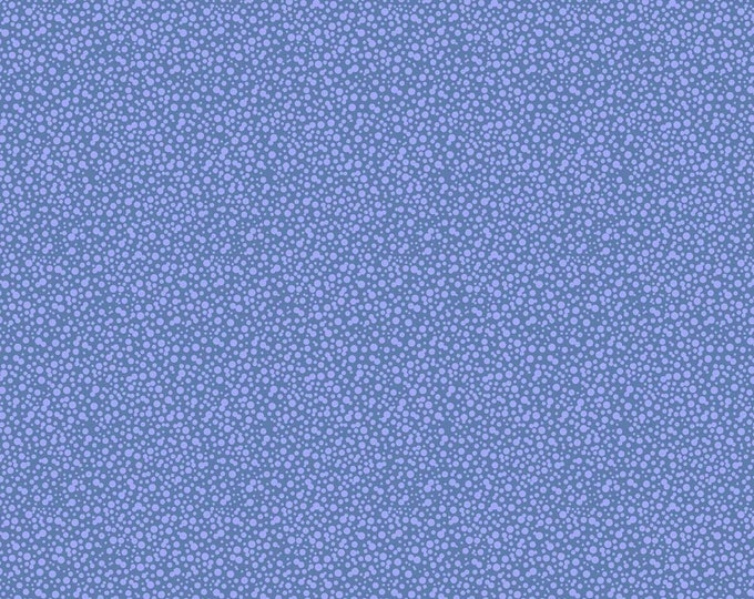 Dotties Blue Fabric by Ellen Medlock - 1 Yard Periwinkle Mini Print Geometric Tone on Tone Blender Sewing Quilting Cotton Fabric (#927B)