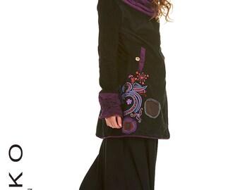 FAIRY COAT, elf coat, psytrance coat, PIXIE clothing, winter coat, pixie coat, colourful coat, JVCOHn