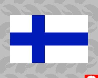 Finnish Flag Sticker Self Adhesive Vinyl Finland FIN FI - C1821
