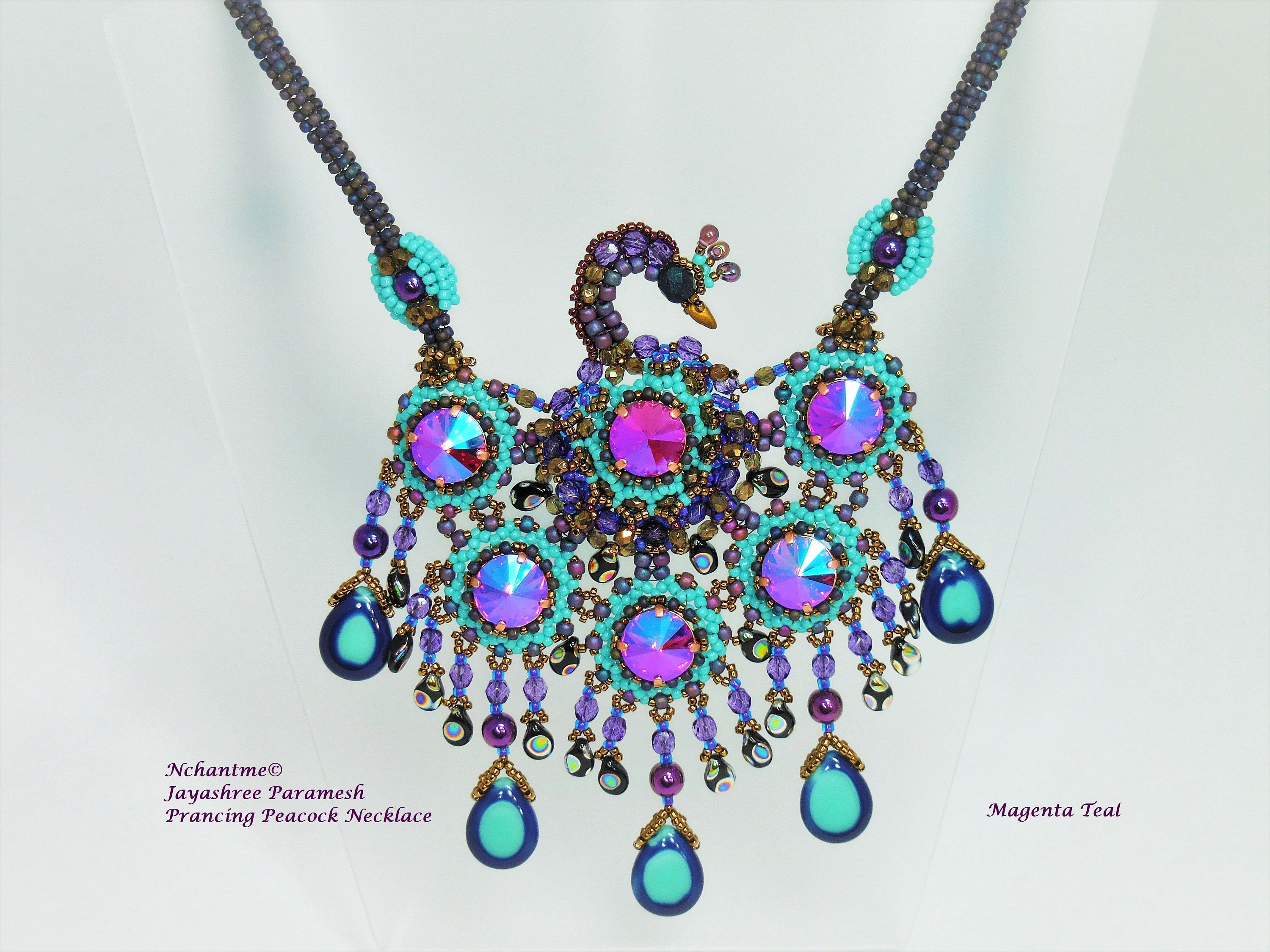 jewelry crochet beaded il fullxfull bead zoom qfwk necklace choker listing peacock feather