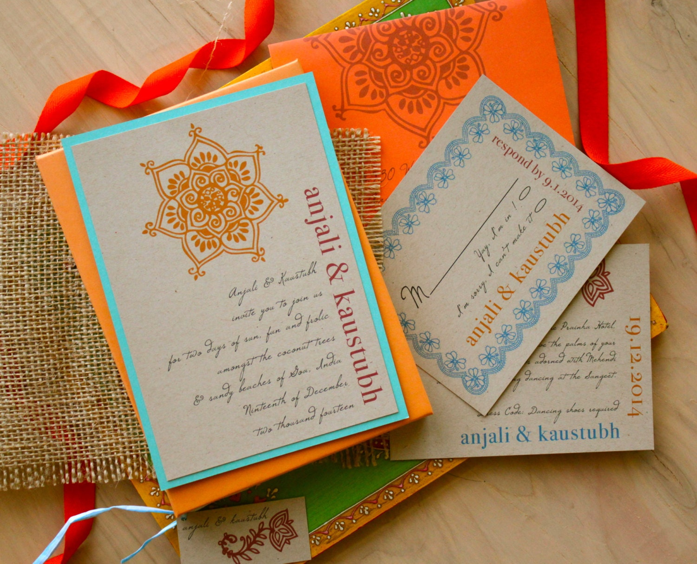 Boxed Wedding Invitation Boho Rustic Box Wedding Invitations