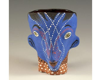 Two Faced Ceramic Cup by Jenny Mendes - Frankie