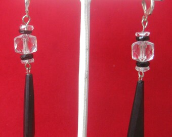 Pair of Antique Crystal Earrings