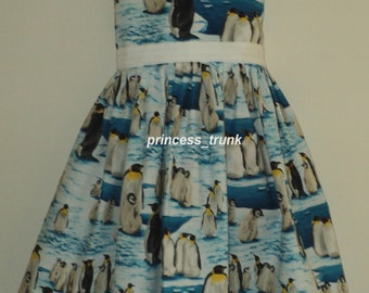 NEW Handmade Rare Penguins Iceberg Ocean Dress Custom Size