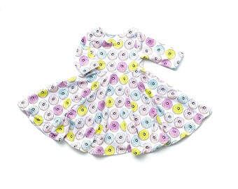 Donut Twirl Dress //  Donut Dress // Twirl Dress // Baby Girl Dress // Toddler Girl Dress // Baby Girl