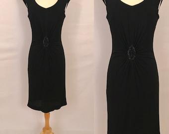50s Black Party Gown Dress Vintage Evening Dress