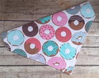 Doughnut Dog Bandana / Donut Cat Bandana / Sprinkles Dog Scarf / Over the Collar / Dog Lover Gift / Pet Accessories / Glazed Donut Bandana