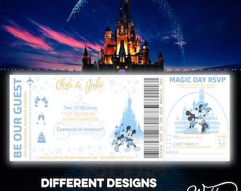 Disneyland invite Etsy