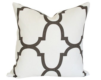 Riad Clove - Windsor Smith - Kravet Designer Pillow Cover - Brown