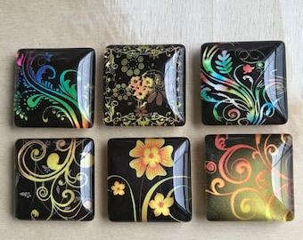 Colorful magnets, Kitchen decor, Fridge magnets, Cubicle decor, Teacher gift, Locker magnets, Floral decor, Gifts for girls Stocking stuffer