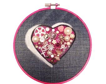 Valentine's Heart Canvas