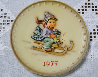 Vintage Hummel Plate 1975 Ride Into Christmas Collector Plate Goebel West Germany PanchosPorch