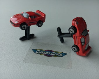 Ferrari F-40 - Vintage Micro Machine Car Cufflinks. Perfect fathers day / valentines / birthday / wedding or christmas gift