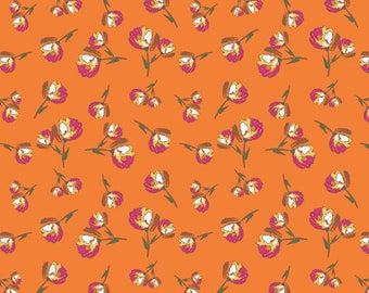 Lively Rose Bud Burst - Wild Bloom by Bari J. - Art Gallery Fabric Quilting Cotton 1/2 Yard+