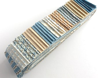 Quilting 40pc Strip Set in Edyta Sitar's Blue Sky for Andover Fabrics - Jelly Roll, Quilting Pre-cut