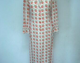 C.Capriotti Tulip Print Vintage Dress