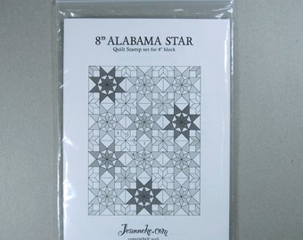 8 inch ALABAMA STAR Quilt stamp set (only rubbers)
