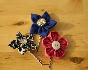 Kanzashi Flower Hair Bobby Pins